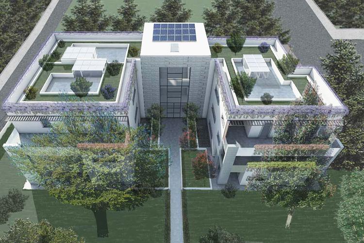 Residence il faggio rosso costruedil for Palazzine moderne
